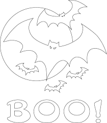 Halloween Coloring Pages Bat Flying