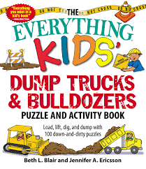 The Everything Kids' Dump Trucks And Bulldozers Puzzle And Activity ...
