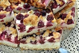 quark cake with cherries quark streusel kuchen mit