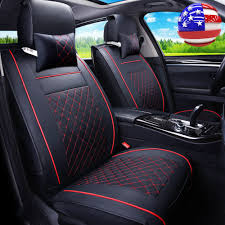 2x US PU Leather Car SUV Truck Seat Covers Cushion Front Bucket ... Leather Seat Covers Upholstery 2006 Dodge Ram 2500 8lug Magazine Ford Truck By Clazzio Bestfh Car Suv Pu Cushion Rear Bench Truck Seat Covers Lvo Fh4 Burgundyblack Eco Leather Front Bucket Black Man Tgx Tgs Redtoffee Fh Group Highback Textured For Sedan Van 5 Full Set Truck Leather Seat Covers Truckleather Luxury Supports Cover Microfiber