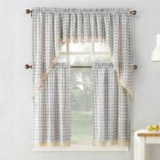 Yellow And Gray Kitchen Curtains by Kitchen Curtains U0026 Drapes Window Treatments Home Decor Kohl U0027s
