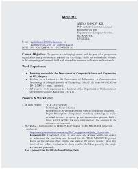 B SC Puter Science Fresher Resume Template For IT Workers As The Other