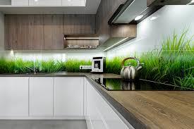 küchenrückwand aus glas eigenes foto