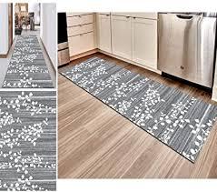 hciszl teppich läufer flur grau 60x100cm nach maß rutschfest waschbar küche modernes 3d druckmuster goldener diamantfloren teppich
