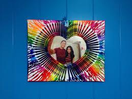 DIY Canvas Photo Transfer Melted Crayon Art