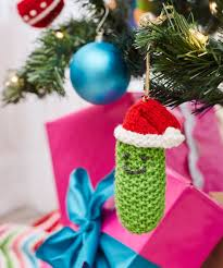 Pickle On Christmas Tree German Tradition by Free Free Christmas Tree Ornaments Knitting Patterns Patterns