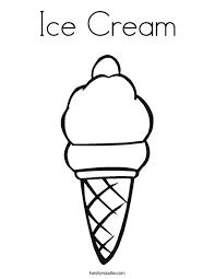Ice Cream Cone Coloring Page Png Qjpgctok