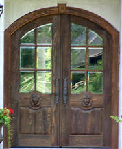 DbyD 3041 Old World Exterior Wood Front Entry Door 3044