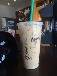 Venti Vanilla Iced Coffee With Half Extra Cold On A Hot