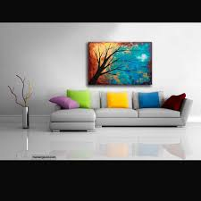 Acrylic Abstract Painting Texture Canvas Wall Art Metallic Gold Copper Blue Colourful Original Contemporary Modern Home Decor Living Tree