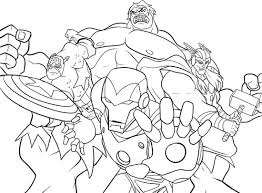 Marvel Coloring Pages Free Archives With