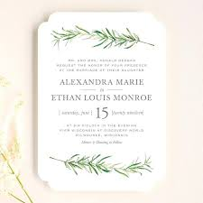Unique Simple Rustic Wedding Invitations And Sprigs In Fern By 87 Diy