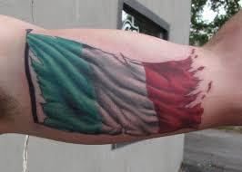 Italian Flag Tattoo On Biceps