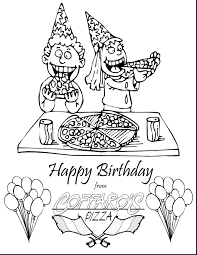 Magnificent Happy Birthday Coloring Pages Images Crazy Gallery Free Cards Sheets Full Size