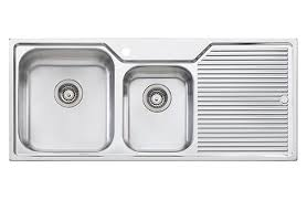 beautiful stainless steel double bowl sink with drainboard double