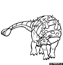 Dinosaur Online Coloring Pages