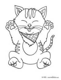 Cute Kitten Coloring Pages Hellokidscom