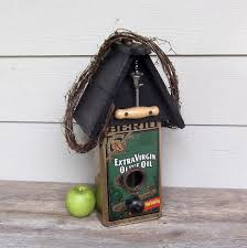 Olive Oil Can Birdhouse Tin Repurposed By Milepost7 4200