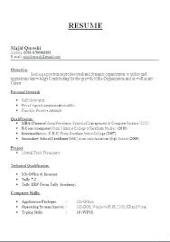 Resume Format For A Teacher Teaching Job Sample