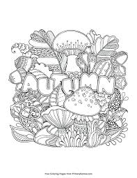 Fall Coloring Pages Autumn Simple For Adults