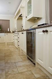Kitchen White Cabinets Tile Floor Photo