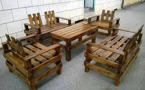 Pallet Patio Table Plans by Wooden Pallet Patio Furniture Set Pallet Furniture Diy
