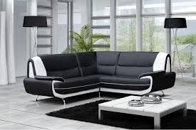 canape d angle noir et blanc canapé moderne simili cuir réversible gris noir chocolat