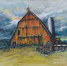 Painting Of Old Barns In Acrylic | Tags: Old Illinois Barn With ... Barn Wikipedia Heart Native Son The Shrine Barns Of Richland County Area History Why Are Traditionally Painted Red Youtube 25 Unique Patings Ideas On Pinterest Pottery Barn Paint Best Garage Door Cedar A Survey Upstater 230 Best Watercolor Old Buildings Images And Style Sheds Leonard Truck Accsories House That Looks Like Red At Home In The High