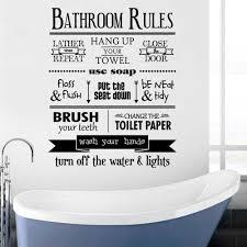 wand zitat aufkleber badezimmer regeln haus regeln kinder badezimmer waschraum toilette typografie u bahn decor wunderlicher vinyl aufkleber j2000