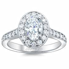 Vintage Looking Diamond Rings This Oval Halo Engagement