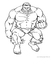 Free Coloring Pages Hulk Smash