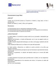 Financiamiento Bancomer Largo Plazo