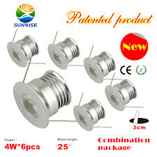 6pcs x 4w non dimmable puck lights fixture