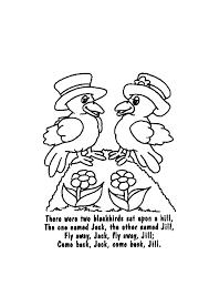 Nursery Rhymes Printable Coloring Book For Kids
