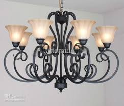 Rustic Traditional Black Wrought Iron Chandelier Dining Room Pendant Light Dia 92cm 43913 Piece