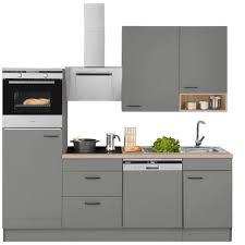optifit küchenzeile elga ohne e geräte premium küche mit soft funktion großen vollauszü höhenverstellbaren füßen metallgriffen und 38