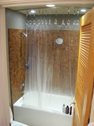 here s the overall idea for a ceiling mounted shower curtain the