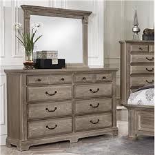 Vaughan Bassett Triple Dresser by Vaughan Bassett Woodlands Transitional Triple Dresser 8 Drawers