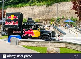 100 Redbull Truck Truck During The Acrobatics Event Luxembourg Stock Photo
