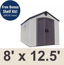 lifetime 6402 storage shed 8x12 5 on sale with fast and free shipping