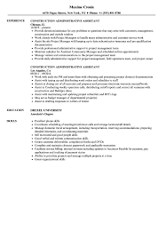 Download Construction Administrative Assistant Resume Sample As Image File
