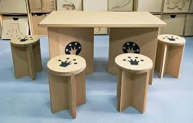Chairs And Table Cardboard Furniture cardboard furniture plans