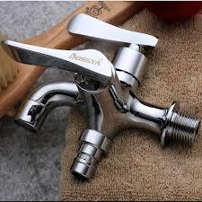 doppel wasser outlet garten waschmaschine wasserhahn messing tippen badezimmer bidet wasserhahn poliert chrom überzogene schnelle auf armaturen