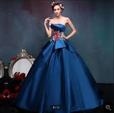 online get cheap gorgeous navy blue prom dress aliexpress com