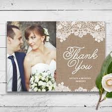 Rustic Wedding Thank You Cards For Some Couples And A Pre Printed Message Is More Realistic