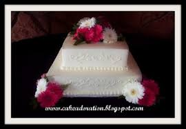 Classic White Elegant Cake with Hot pink Flowers Just Beautiful