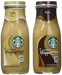 Starbucks Frappuccino Mocha And Vanilla Flavors 95 Ounce Glass Bottles Pack Of 15