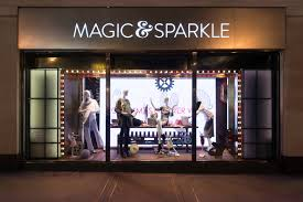 Marks And Spencer Magic Sparkle Christmas Window Displays