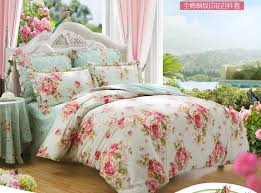 Flowered Comforters Romantic Rustic Beige And Pink Floral Comforter Sets Full