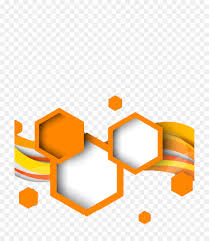 100 Art Deco Shape Hexagon Geometric Shape Geometry Orange Picture Material